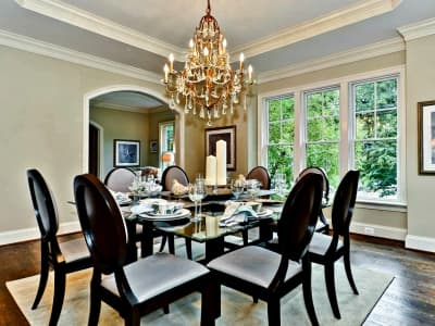 Staged dining room in D.C.