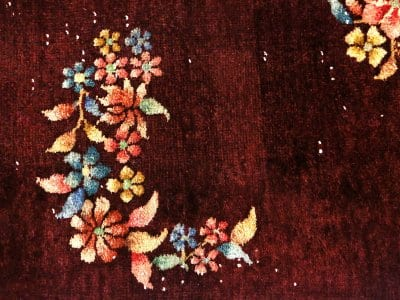 Handmade vintage wool rug from Fine Estates