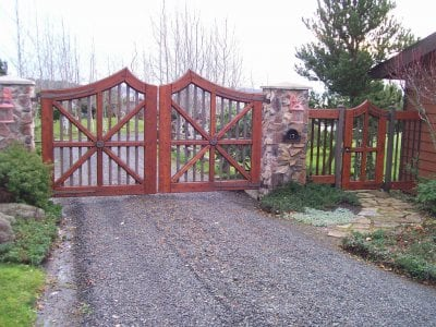 wooden swing gate