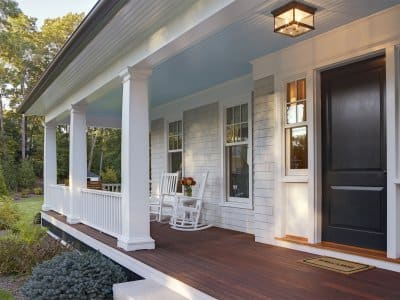 Front porch of home