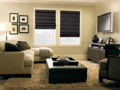 Roman shades window treatments