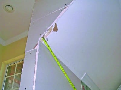 a bad sheetrock drywall install
