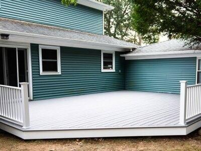 composite deck residential backyard