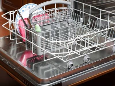 Dishwasher with lime buildup