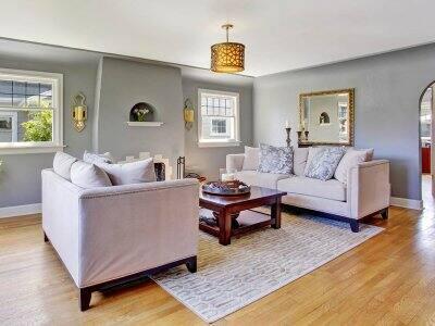 Charming grey living room