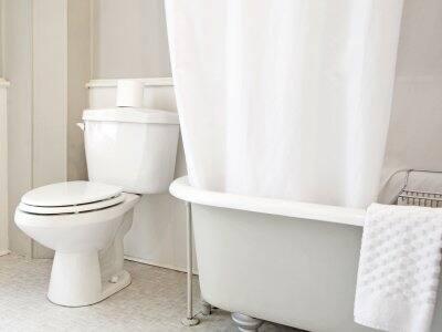 The interior of a bathroom