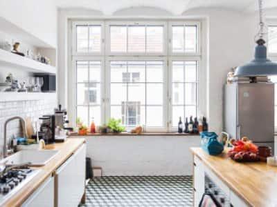 Large windows in kitchen