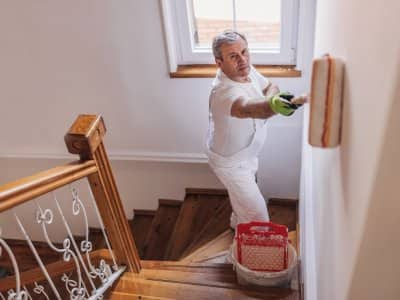Male painting contractor
