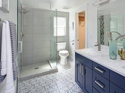 View of a modern bathroom