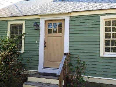 new exterior door installed on home