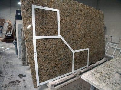 granite stone countertop measurements