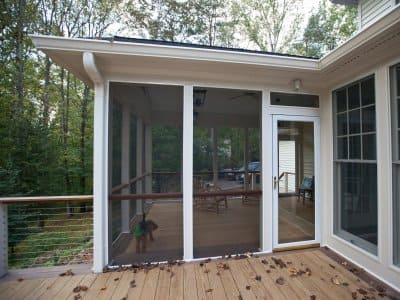screened porch on deck