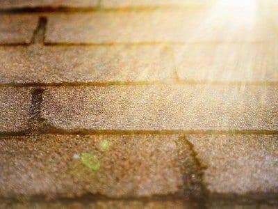 asphalt shingles up close
