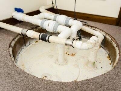 Basement sump pump.