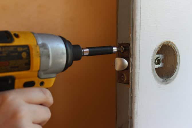 changing a doorknob