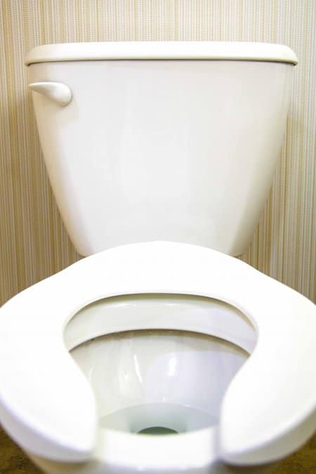 White home toilet photographed 6/14/14
