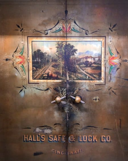 An antique safe from Hall's Safe & Lock Co. in Cincinnati