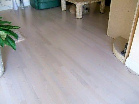 Photo of engineered hardwood flooring in a home