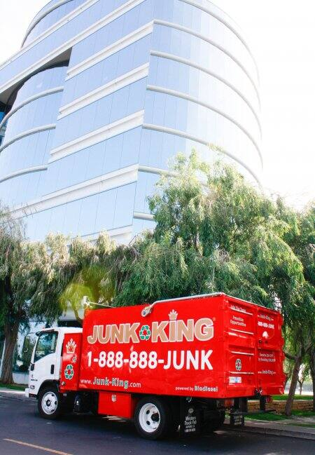 junk removal service hauling truck