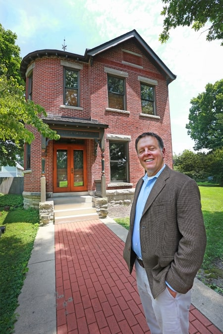 Blaszczak's home was originally built for the daughter of Butler University founder Ovid Butler. (Photo by Frank Espich)