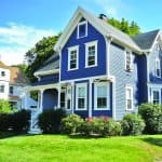 blue Victorian style home