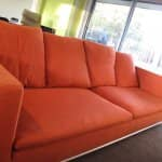 A professional cleaning left this bright-colored sofa looking like new. (Photo courtesy of Angie's List member Ruth H. of Denver, Colo.)