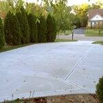 newly poured concrete driveway