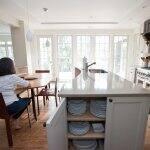 homeowner waits in kitchen