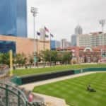lawn mowing at Victory Field in Indianapolis