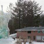 The Veal's have been building the Ice Tree since 1961. (Photo by Steve C. Mitchell)