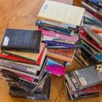 stack of used books (Photo by Brandon Smith)