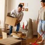 Couple cleaning house before a move (Photo by BalanceFormCreative / Shutterstock.com)