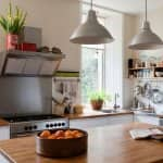 A spacious kitchen with open shelving (Photo by Andreas von Einsiedel/Corbis Documentary via Getty Images)