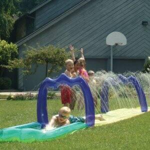 Backyard water slide