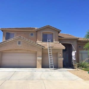 exterior painters working after HOA approval