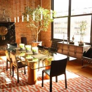 sleek dining room design