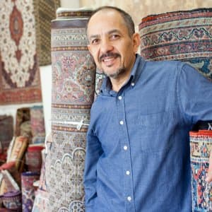 Hedayat Mukhtarzada, owner of Art Connection Oriental Rugs