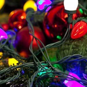 A strand of LED christmas lights