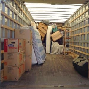 moving truck packed