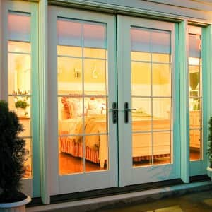 exterior patio French doors by Pella