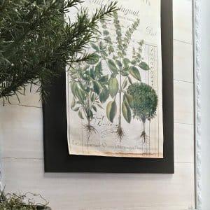 DIY faux shiplap picture frame