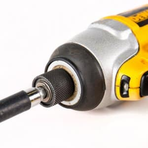Dewalt cordless impact drill for DIY remodeling (Photo by Eldon Lindsay)