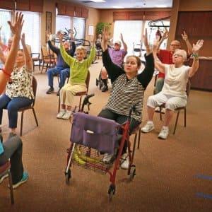 Westside Garden Plaza yoga class