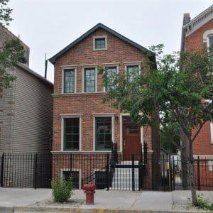 Two-story home, city, neighbors