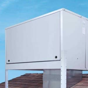 swamp cooler on roof