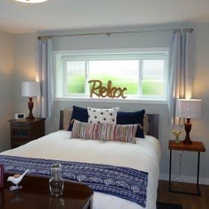bedroom in basement remodel