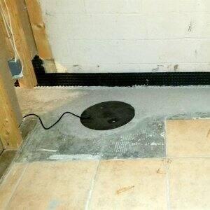 Basement floor under construction