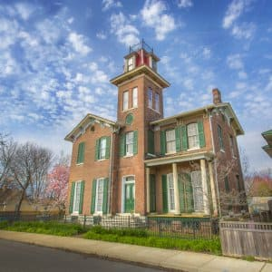 The Bates-Hendricks House, a historic home in Indianapolis, Indiana