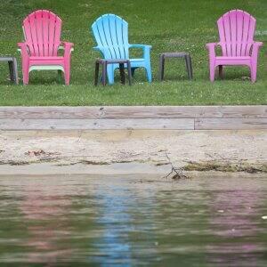 beach chairs at a beach