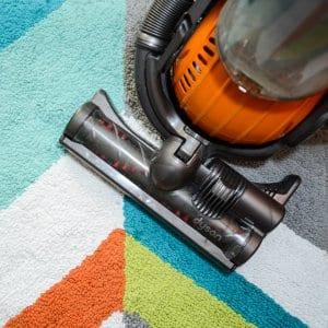 vacuum on rug